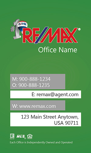 Vertical Remax Business Card - Design #101445
