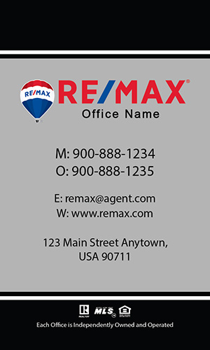 Vertical Remax Business Card Classic White - Design #101462