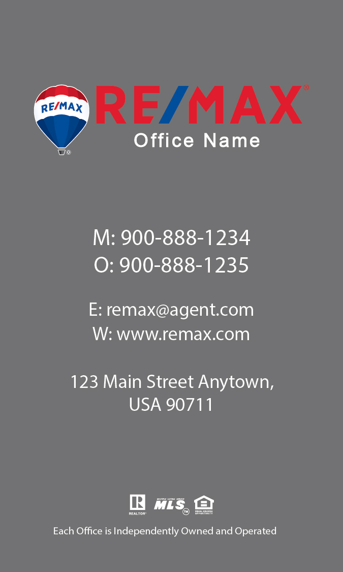 Vertical remax business card design 101471 for Remax business cards templates