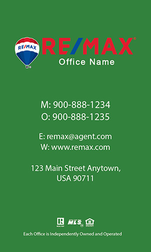 Remax Realtor Business Card - Design #101474