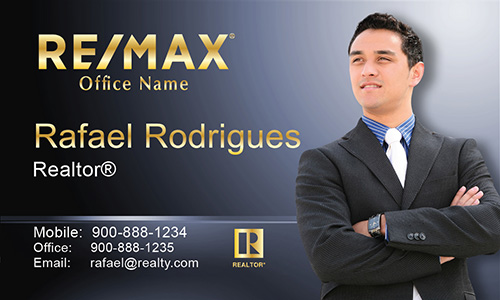 Blue Remax Business Card - Design #101502