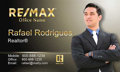 Black Remax Business Card - Design #101503
