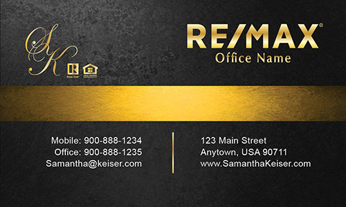 Black Remax Business Card - Design #101511
