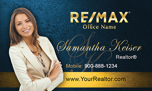 Blue Remax Business Card - Design #101512