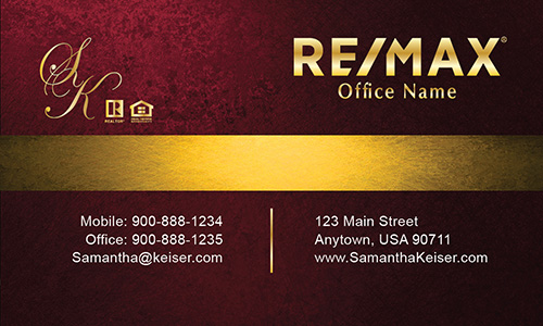 Red Remax Business Card - Design #101513