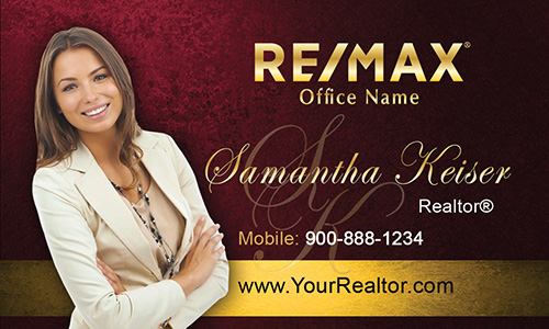 Remax realtor business card templates online free shipping red remax business card design 101513 fbccfo Images