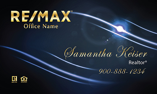 Blue Remax Business Card - Design #101521