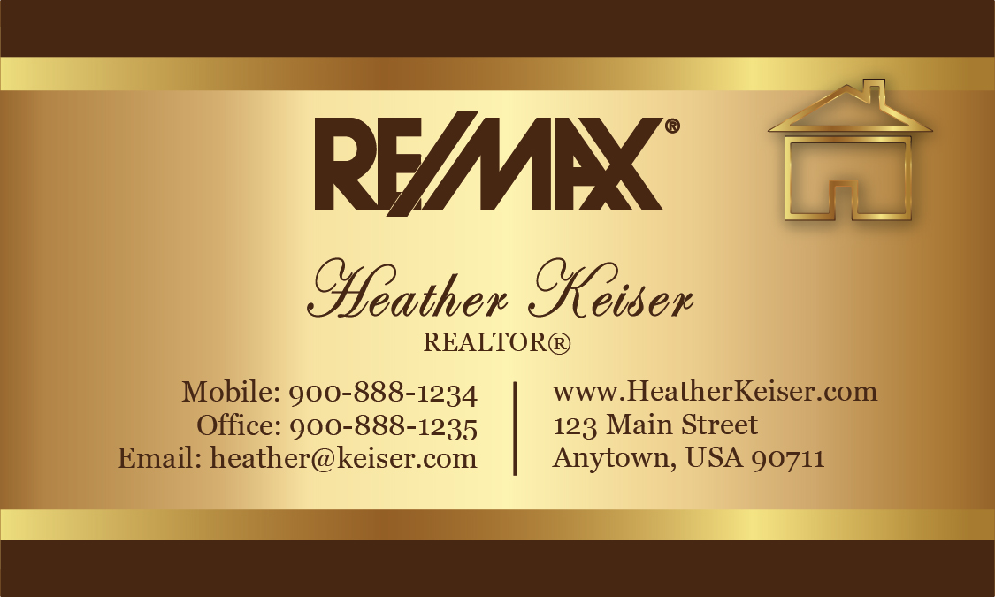 Brown remax business card design 101531 for Remax business cards templates