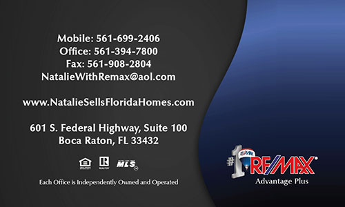 Blue Remax Business Card - Design #101541