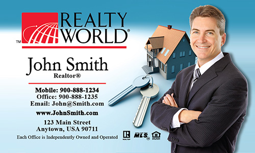 Blue Realty World Business Card - Design #112011