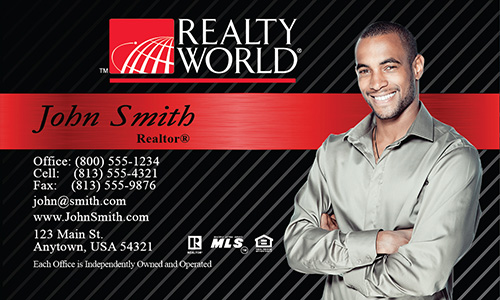 Red Realty World Business Card - Design #112021