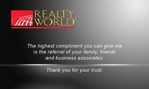 Black Realty World Business Card - Design #112041