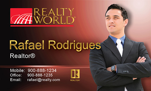 Red Realty World Business Card - Design #112042