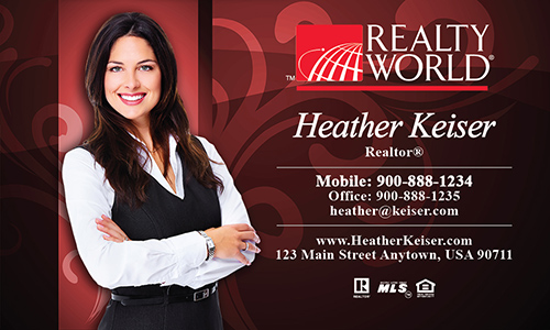 Red Realty World Business Card - Design #112062