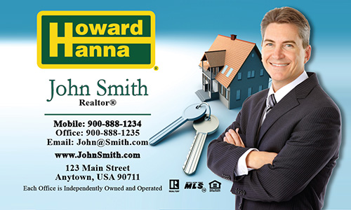 Blue Howard Hanna Business Card - Design #113011