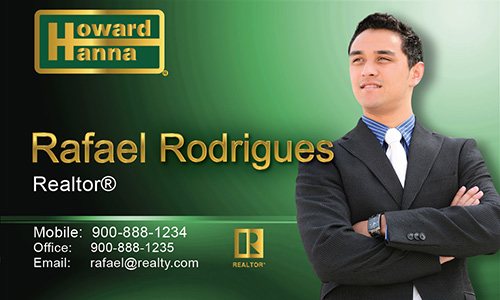 Green Howard Hanna Business Card - Design #113021