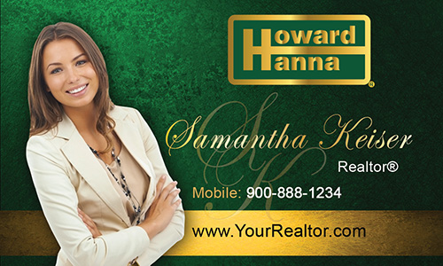 Green Howard Hanna Business Card - Design #113031