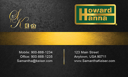 Black Howard Hanna Business Card - Design #113032
