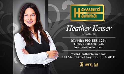 Black Howard Hanna Business Card - Design #113051