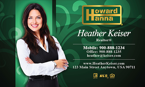 Green Howard Hanna Business Card - Design #113052