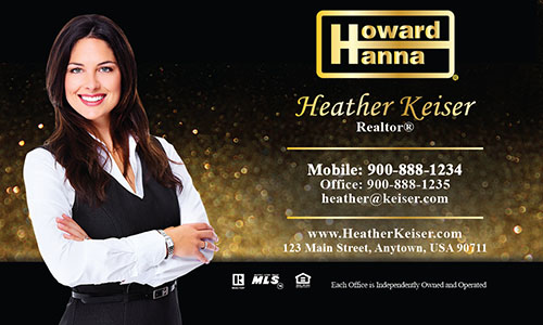 Black Howard Hanna Business Card - Design #113061