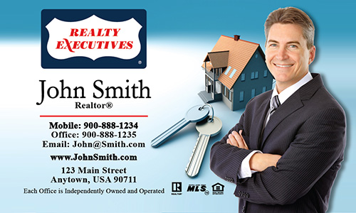 Blue Realty Executives Business Card - Design #113011