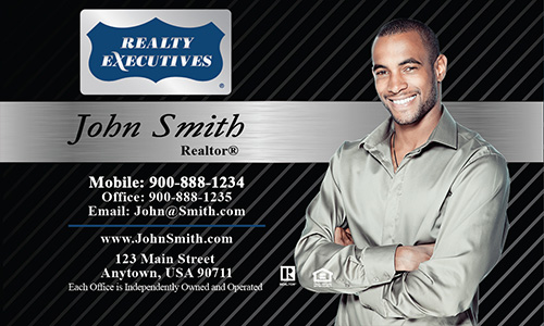 Black Realty Executives Business Card - Design #113021