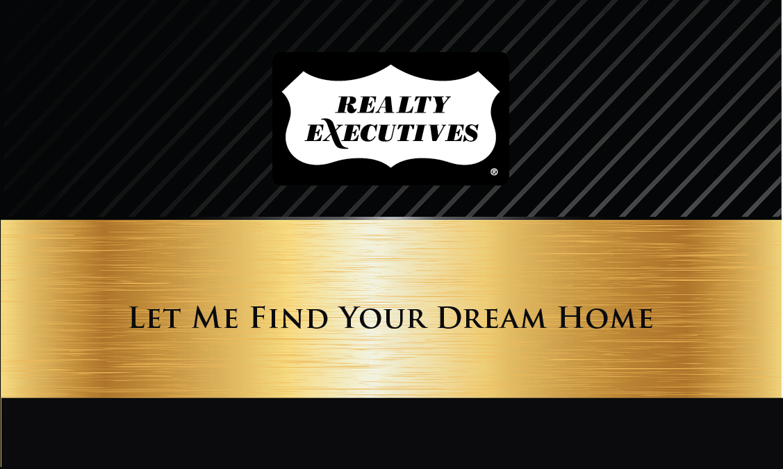Black Realty Executives Business Card - Design #113031