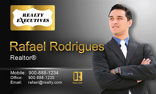 Black Realty Executives Business Card - Design #113042