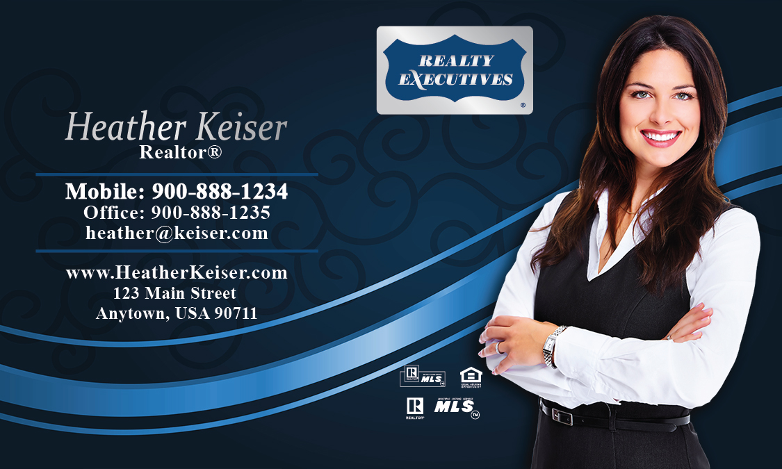 Blue Realty Executives Business Card - Design #113051