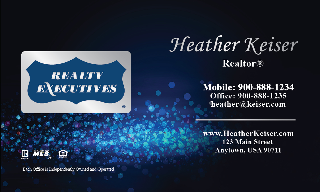 Blue Realty Executives Business Card - Design #113061