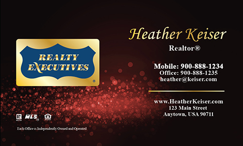 Red Realty Executives Business Card - Design #113062