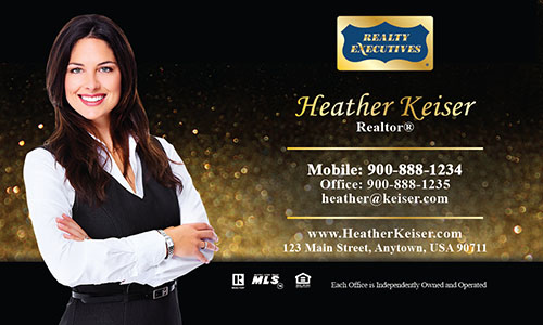 Black Realty Executives Business Card - Design #113081