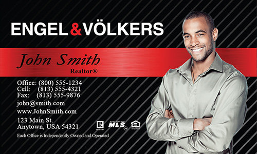 Black Engel Volkers Business Card - Design #114021
