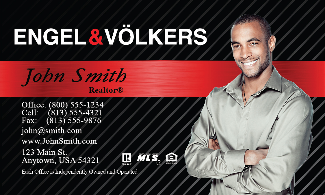 Real estate business cards online printing service for for Engel and volkers world