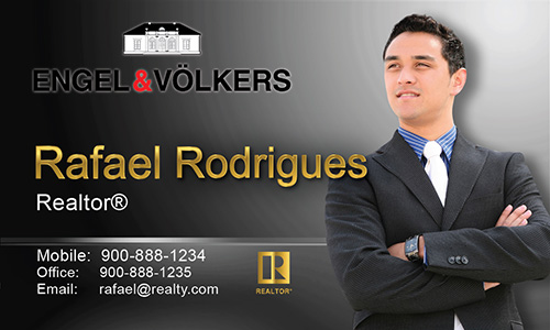 Black Engel Volkers Business Card - Design #114031