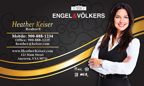 Black Engel Volkers Business Card - Design #114041
