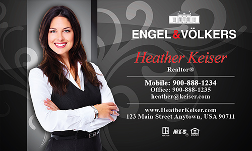 Black Engel Volkers Business Card - Design #114051
