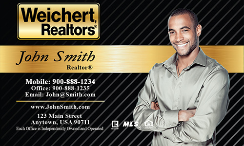Black Weichert Realtors Business Card - Design #115021