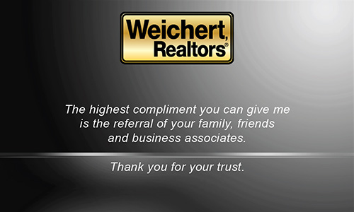 Black Weichert Realtors Business Card - Design #115041