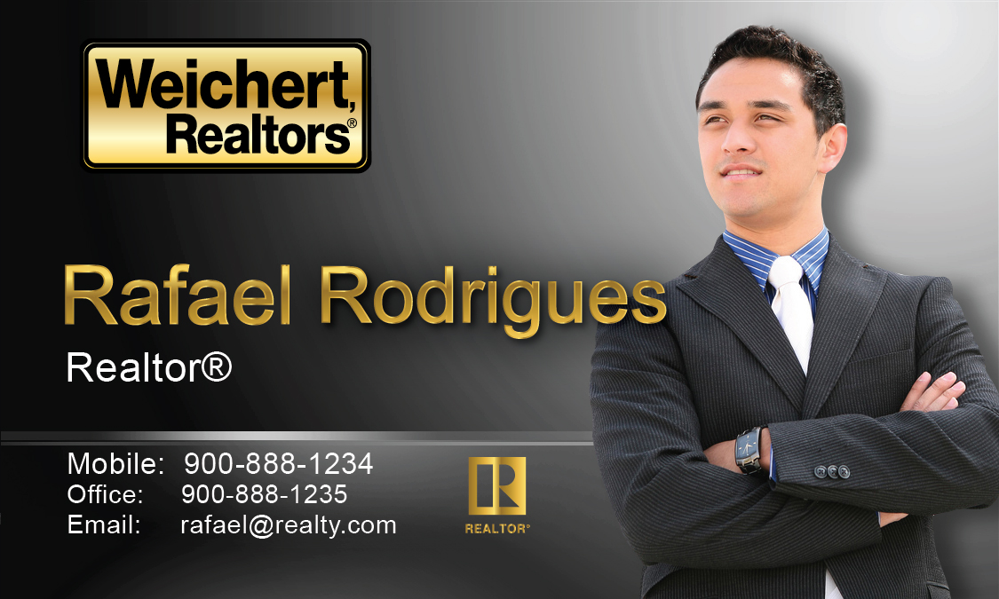 Weichert realtors business card template printifycards black weichert realtors business card design 115041 black wajeb Images