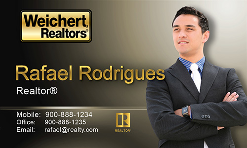 Brown Weichert Realtors Business Card - Design #115042
