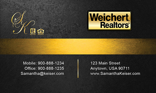 Black Weichert Realtors Business Card - Design #115051