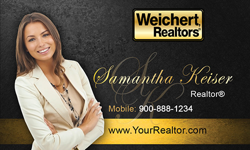 Weichert realtors business card template printifycards black weichert realtors business card design 115051 accmission Image collections