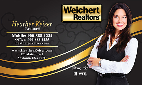 Black Weichert Realtors Business Card - Design #115061