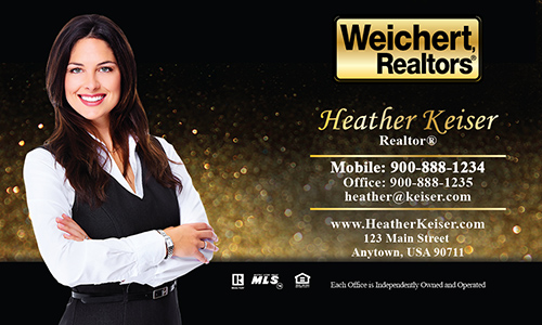 Black Weichert Realtors Business Card - Design #115071