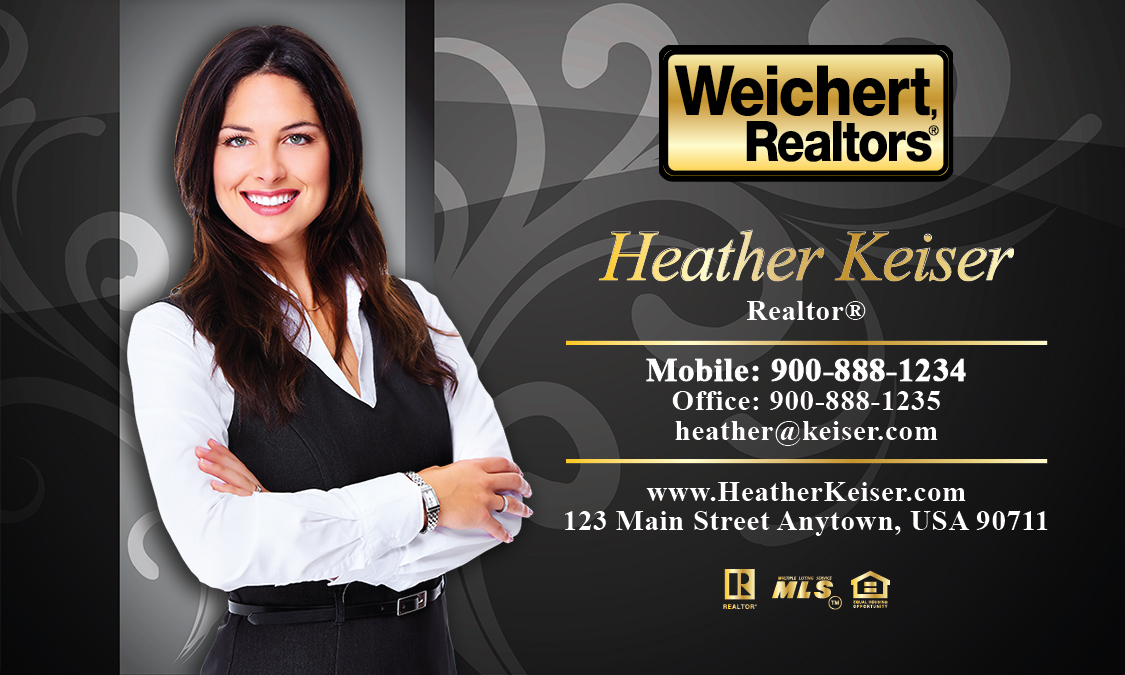 Black Weichert Realtors Business Card - Design #115081