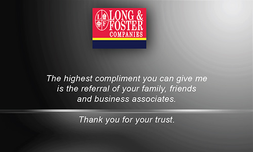 Gray Long Foster Business Card - Design #116041