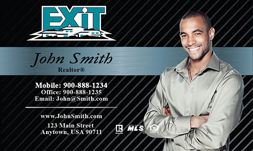 Exit realty business cards templates printifycards black exit business card design 117021 colourmoves Image collections