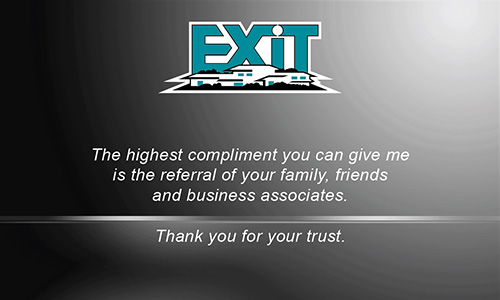 Gray Exit Business Card - Design #117042